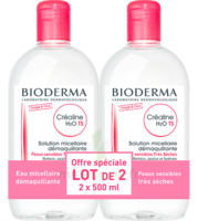 Crealine Ts H2o Solution Micellaire Sans Parfum Nettoyante Apaisante 2fl/500ml à VINEUIL