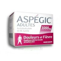 Aspegic Adultes 1000 Mg, Poudre Pour Solution Buvable En Sachet-dose 20 à VINEUIL