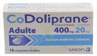 Codoliprane Adultes 400 Mg/20 Mg, Comprimé Sécable à VINEUIL
