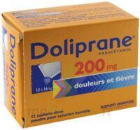 Doliprane 200 Mg Poudre Pour Solution Buvable En Sachet-dose B/12 à VINEUIL
