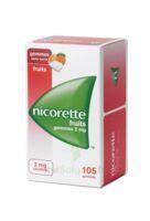 Nicorette 2 Mg Gomme à Mâcher Médicamenteuse Sans Sucre Fruits Plq/105 à VINEUIL