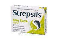 Strepsils Citron Sans Sucre, Pastille édulcorée à L'isomalt, Au Maltitol Et à La Saccharine Sodique à VINEUIL