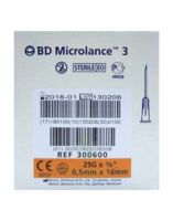 Bd Microlance 3, G25 5/8, 0,5 Mm X 16 Mm, Orange  à VINEUIL