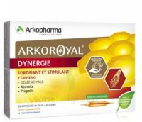 Arkoroyal Dynergie Ginseng Gelée Royale Propolis Solution Buvable 20 Ampoules/10ml à VINEUIL