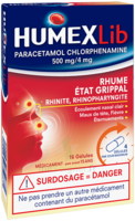 Humexlib Paracetamol Chlorphenamine 500 Mg/4 Mg, Gélule à VINEUIL