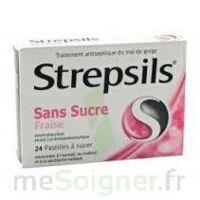 Strepsils Fraise Sans Sucre, Pastille édulcorée à L'isomalt, Au Maltitol Et à La Saccharine Sodique à VINEUIL