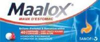 Maalox Maux D'estomac Hydroxyde D'aluminium/hydroxyde De Magnesium 400 Mg/400 Mg Sans Sucre Fruits Rouges, Comprimé à Croquer édulcoré à La Saccharine Sodique, Au Sorbitol Et Au Maltitol à VINEUIL