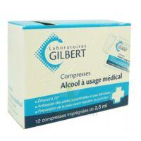 Alcool A Usage Medical Gilbert 2,5 Ml Compr Imprégnée 12sach à VINEUIL