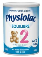 Physiolac Equilibre 2 Lait Pdre B/900g