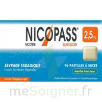 Nicopass 2,5 Mg Pastille Menthe Fraîcheur Sans Sucre Plq/36 à VINEUIL