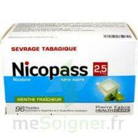 Nicopass 2,5 Mg Pastille Menthe Fraîcheur Sans Sucre Plq/96 à VINEUIL