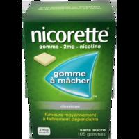 Nicorette 2 Mg Gom à Mâcher Médic Sans Sucre Menthe Fraîche Plq/105gom