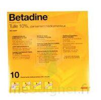 Betadine Tulle 10 % Pans Méd 10x10cm 10sach/1 à VINEUIL