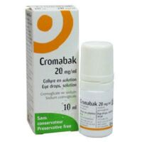 Cromabak 20 Mg/ml, Collyre En Solution à VINEUIL