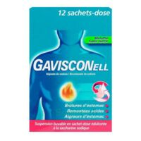 Gavisconell Suspension Buvable Sachet-dose Menthe Sans Sucre 12sach/10ml à VINEUIL