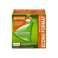 Nicorette 2 Mg Gomme à Mâcher Médicamenteuse Sans Sucre Fruits Plq/210 à VINEUIL