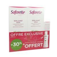 Saforelle Solution Soin Lavant Doux 2*500ml+100ml à VINEUIL