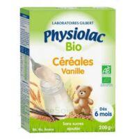 Physiolac Céréales Vanille Bio B/200g