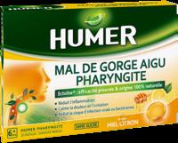 Humer Pharyngite Pastille Mal De Gorge Miel Citron B/20 à VINEUIL